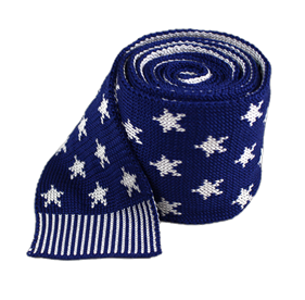 Blue North Star Knit ties
