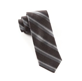 Black Social Stripe ties