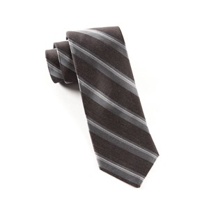 social stripe black ties