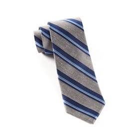 Grey Social Stripe ties