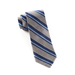 social stripe grey ties