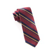 Ties - Social Stripe - Burgundy