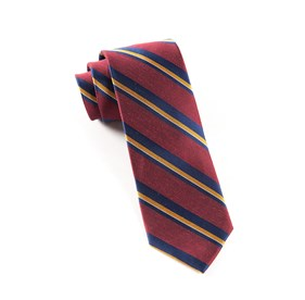 Social Stripe Burgundy Ties