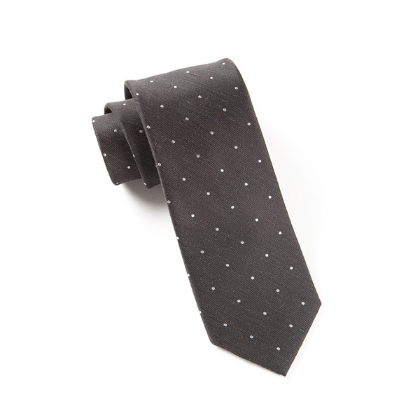 Black Bulletin Dot Tie