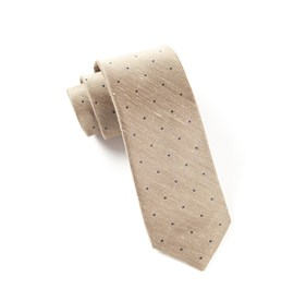 Tan Bulletin Dot ties