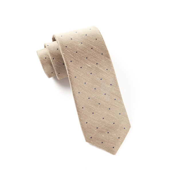Tan Bulletin Dot Tie
