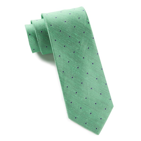 Kelly Green Bulletin Dot Tie