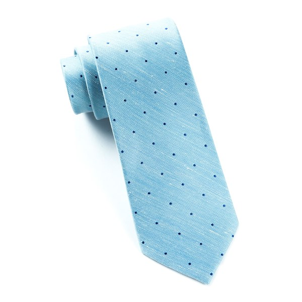 Washed Pool Blue Bulletin Dot Tie