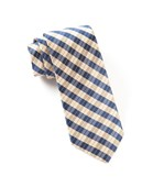 Ties - Profile Plaid - Champagne