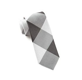 Bison Plaid Black Ties