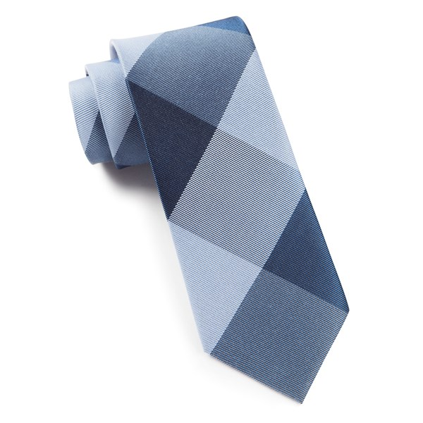 Blues Bison Plaid Tie