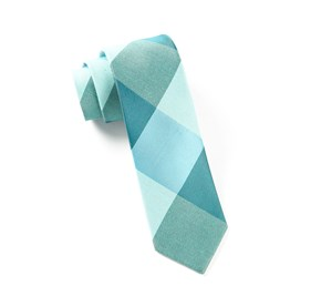 Turquoise Bison Plaid ties