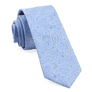 platform paisley light blue ties