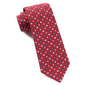 Red Blossom Row ties