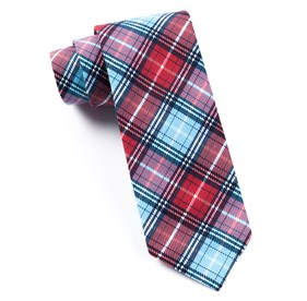 Partridge Plaid Red Ties