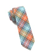 Ties - Partridge Plaid - Tangerine