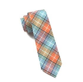 Partridge Plaid Tangerine Ties