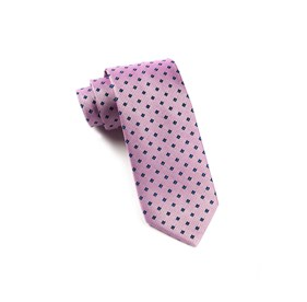 Baby Pink Essex Check ties