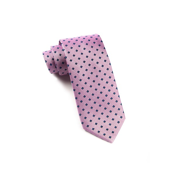 Baby Pink Essex Check Tie