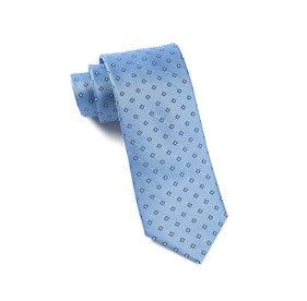 Essex Check Light Blue Ties