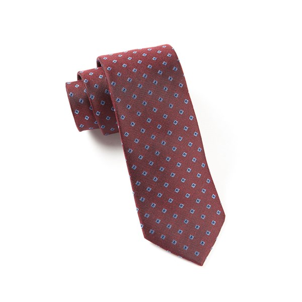 Red Essex Check Tie