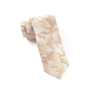 camo light champagne ties