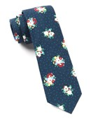 Ties - Outland Floral - Navy