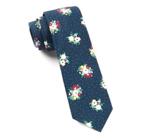 Navy Outland Floral ties