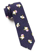 Ties - Outland Floral - Eggplant