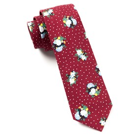 Red Outland Floral ties