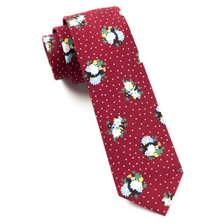 outland floral red ties