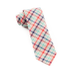 Apple Red Picnic Plaid ties