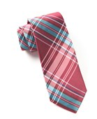Ties - The Director's Plaid - Cranberry