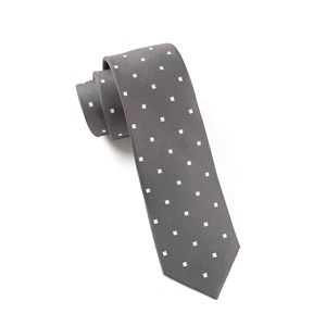 checks & balance charcoal ties