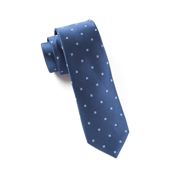 Navy Checks & Balance Tie