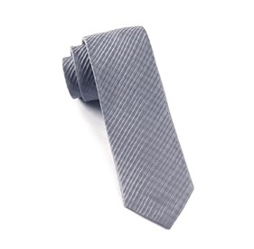 Silver Silk Seersucker Solid ties