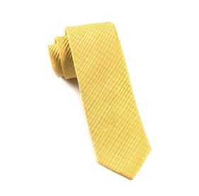 Silk Seersucker Solid Gold Ties