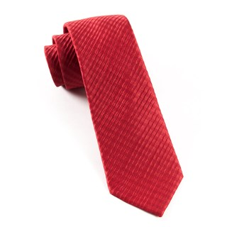 silk seersucker solid red ties