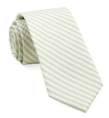 Ties - Silk Seersucker Stripe - Spring Mint