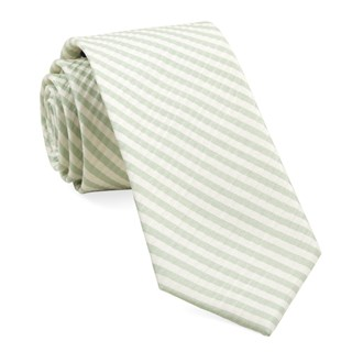 silk seersucker stripe spring mint ties