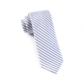 Periwinkle Silk Seersucker Stripe ties