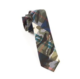 Blue Textured Camo ties