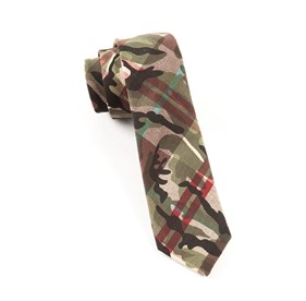 Textured Camo Red Ties