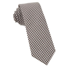 Brown Petite Gingham ties