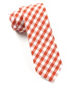 Ties - Cotton Table Plaid - Burnt Orange