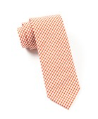 Ties - PETITE GINGHAM - BURNT ORANGE