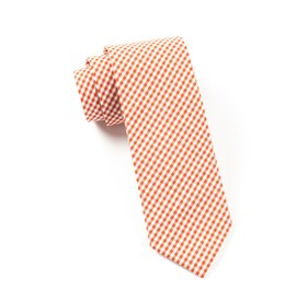 Petite Gingham Burnt Orange Ties