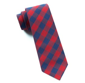 Apple Red Creekside Gingham ties