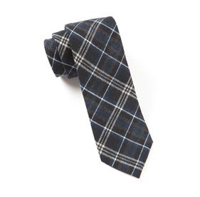 Ballard Plaid Black Ties
