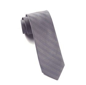 Silver Invisible Stripe ties
